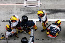 Renault F1 Team mechanic before pitstop