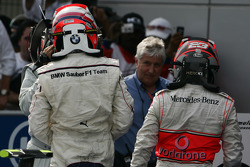 Second place Robert Kubica and third place Heikki Kovalainen