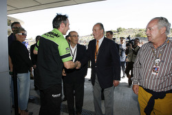 King of Spain Juan Carlos visits Kawasaki Racing Team