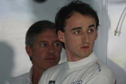 Robert Kubica,  BMW Sauber F1 Team and his manager, Daniele Morelli