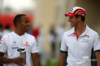 Lewis Hamilton, McLaren Mercedes, Adrian Sutil, Force India F1 Team
