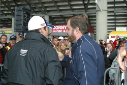 Jimmie Johnson and Eddie Gossage