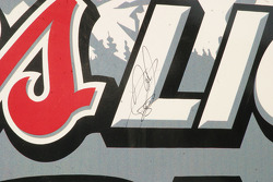 A Texas tradition that the pole winner signs the Victory Lane wall