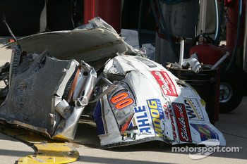Parts off of Michael McDowell's car