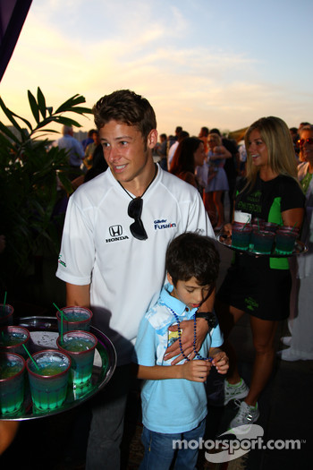 Marco Andretti at the Honda welcome party