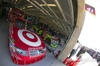 The Target Dodge sits in the garage area