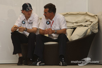 Robeart Kubica, BMW Sauber F1 Team and Dr. Mario Theissen, BMW Sauber F1 Team, BMW Motorsport Director