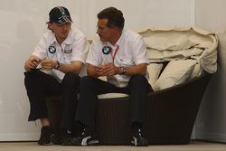 Robeart Kubica, BMW Sauber F1 Team and Dr. Mario Theissen, BMW Sauber F1 Team, BMW Motorsport Director