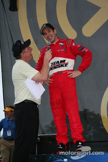 Second place finisher Helio Castroneves