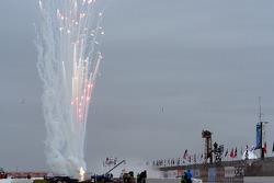 Pre race fireworks