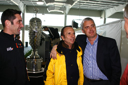 Max Papis, two-time Indianapolis 500 winner Emerson Fittipaldi and 1998 Indianapolis 500 winner Eddie Cheever