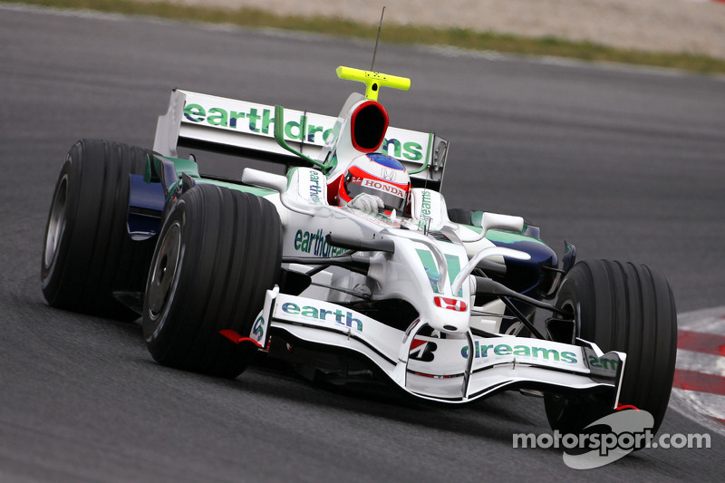Rubens Barrichello, Honda Racing F1 Team, RA108 with radical new front wing