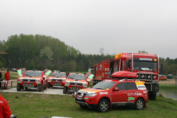 Team Repsol Mitsubishi Ralliart service area in Dabas