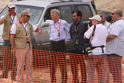 Max Mosley, President FIA, HRH Prince Feisal Al Hussein, Chairman Jordan Motorsport, Mohammed Bin Sulayem