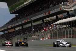 Nick Heidfeld, BMW Sauber F1 Team, Mark Webber, Red Bull Racing, Jarno Trulli, Toyota F1 Team