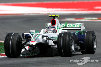 Rubens Barrichello, Honda Racing F1 Team, RA108, front wing missing
