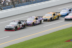 Denny Hamlin takes the lead