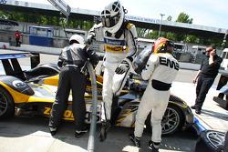 Pit stop for #46 Embassy Racing WF01 - Zytek: Joey Foster, Jonny Kane