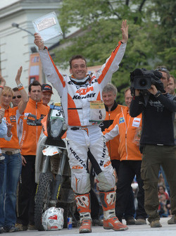 Podium: bike winner David Casteu