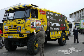 Tatra Team at scrutineering