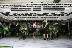 Kawasaki Racing Team pit box