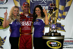 Victory lane: race winner Clint Bowyer celebrates with Crown Royal girls