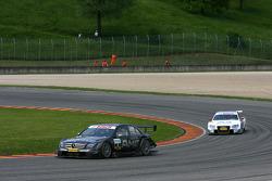 Paul di Resta, Team HWA AMG Mercedes, AMG Mercedes C-Klasse, Tom Kristensen, Audi Sport Team Abt Audi A4 DTM 2008