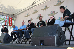 The Unser family takes center stage for interviews