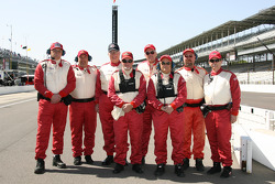 Delphi Safety Crew members pose on pit row