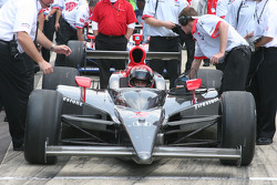 A.J. Foyt IV waits to qualify