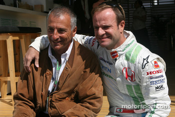 Ricardo Patrese and Rubens Barrichello, Honda Racing F1 Team