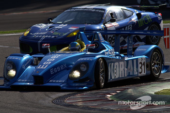 #31 Team Essex Porsche RS Spyder: Casper Elgaard, John Nielsen; #99 JMB Ferrari F430 GT: Alain Fert, Ben Aucott
