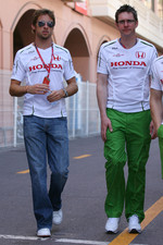 Jenson Button, Honda Racing F1 Team and Andrew Shovlin, Honda Racing F1 Team, Senior Race Engineer to Jenson Button