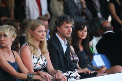 Jodie Kidd and Eddie Irvine Amber Fashion which benefits the  Elton John Aids Foundation
