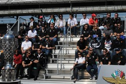 The starting field at their driver's meeting