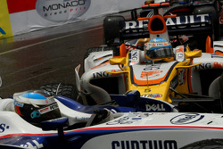 Fernando Alonso, Renault F1 Team, R28, hits Nick Heidfeld, BMW Sauber F1 Team, F1.08