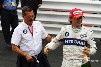 Dr. Mario Theissen, BMW Sauber F1 Team, BMW Motorsport Director with Robert Kubica,  BMW Sauber F1 Team