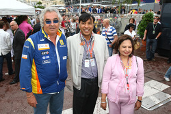Flavio Briatore, Renault F1 Team, Team Chief, Managing Director with Indian-born steel tycoon Lakshmi Mittal