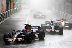 Sébastien Bourdais, Scuderia Toro Rosso leads Sebastian Vettel, Scuderia Toro Rosso