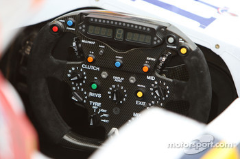 Renault F1 Team, R28, Steering wheel detail
