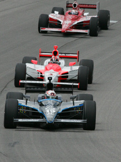 Dan Wheldon, Helio Castroneves and Scott Dixon