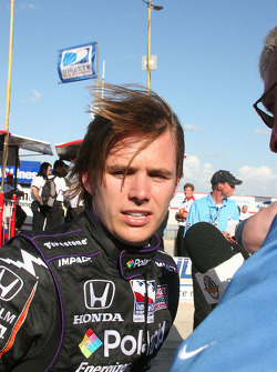 Dan Wheldon after qualifying