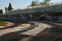 Repairs are made to the hairpin after the circuit started falling apart