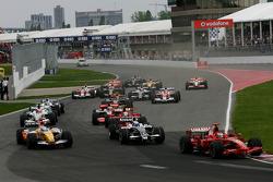 Start, Kimi Raikkonen, Scuderia Ferrari, F2008