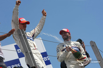 Podium: race winner Robert Kubica and Nick Heidfeld