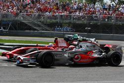 Heikki Kovalainen, McLaren Mercedes, Felipe Massa, Scuderia Ferrari