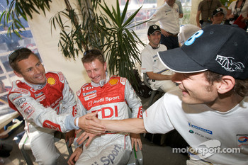 Tom Kristensen, Allan McNish and Alexander Wurz