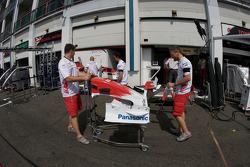 Toyota Racing team members at work