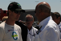 Ryan Hunter-Reay and Bobby Rahal having a chat