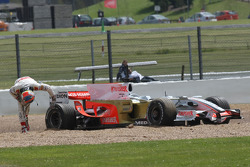 Adrian Sutil, Force India F1 Team, VJM-01, spun off before lunch